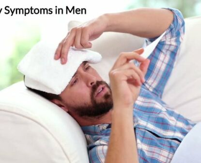 A sick man looking worried.